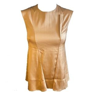 CÉLINE fully lined silk top in bronze